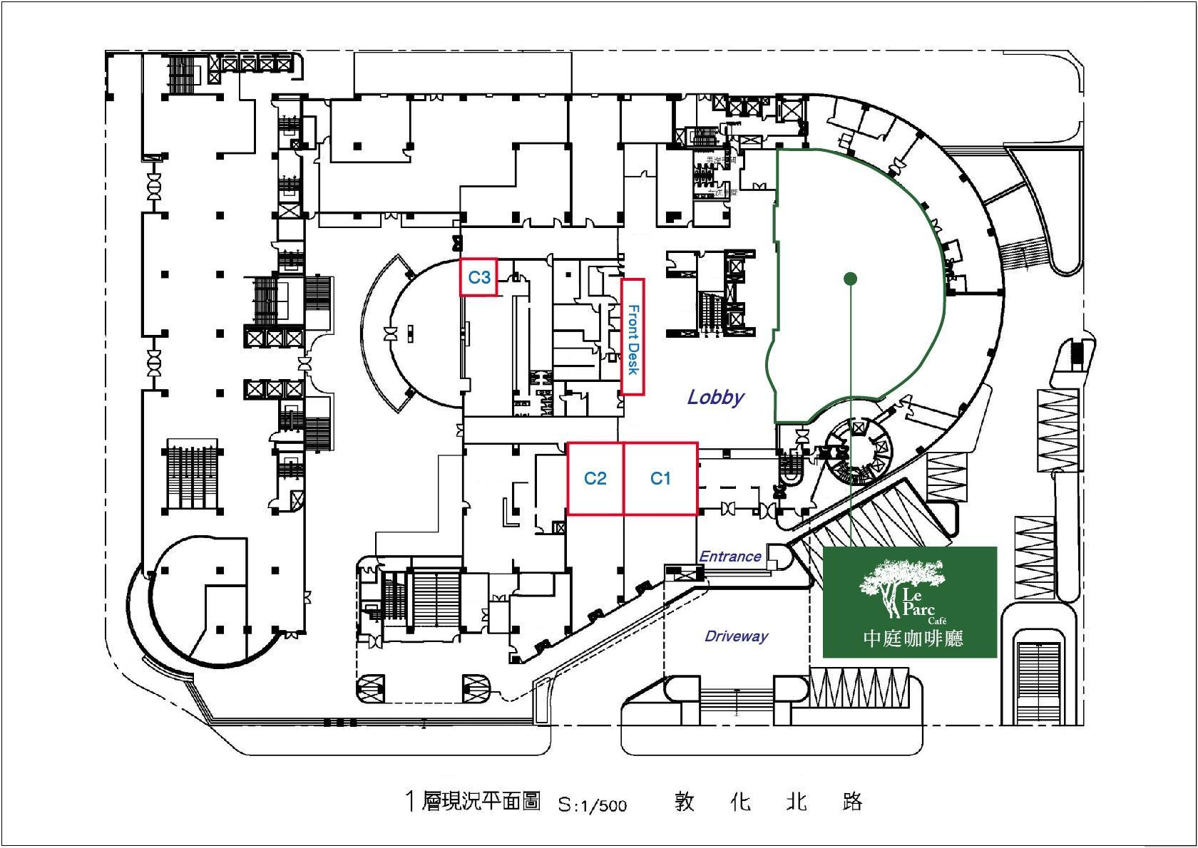 一樓大廳平面圖
